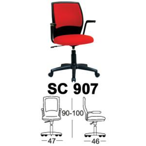 Kursi Staff & Sekretaris Chairman SC 907