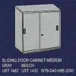 lemari arsip sedang pintu sliding uno classic series